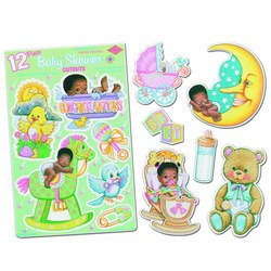 Black Baby Shower Punchouts Party Accessory (1 count) (12/Sh) - 1