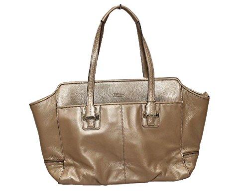 1fd04d8acb Coach Taylor F25205 Women s Shoulder Bag Leather Purse Champagne ...