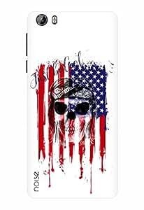Noise Designer Printed Case / Cover for Intex Aqua Lions 3G / Patterns & Ethnic / American Flag On Skull
