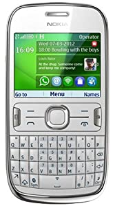 Nokia Asha 302 Mobile Phone on O2 / QWERTY/ Pay as you go / Pre-Pay / PAYG - White (Including £10 Airtime)