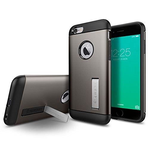 iPhone6S ケース, Spigen® 衝撃吸収パターン加工 スリム アーマー Apple アイフォン6s iPhone6S (国内正規品) (iPhone6S, ガンメタルSGP11605)