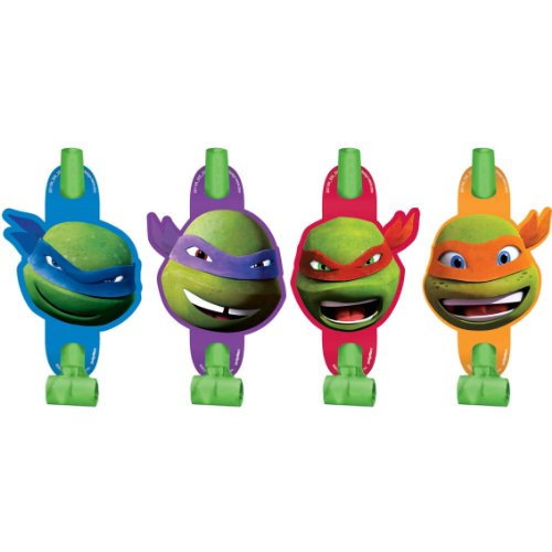 8 Count Teenage Mutant Ninja Turtles Blowouts, Multicolored - 1