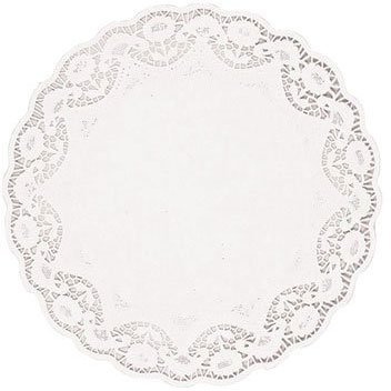 "Amscan Classic Round Doilies Party Supplies, 10"", White"