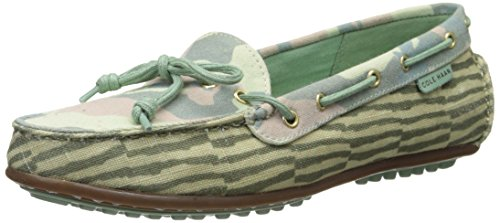 Cole Haan Women's Grant Lte Slip-On Loafer,Green Camo Print/Grey Jade Stripe,8  B US (Cole Haan Grant Lte compare prices)