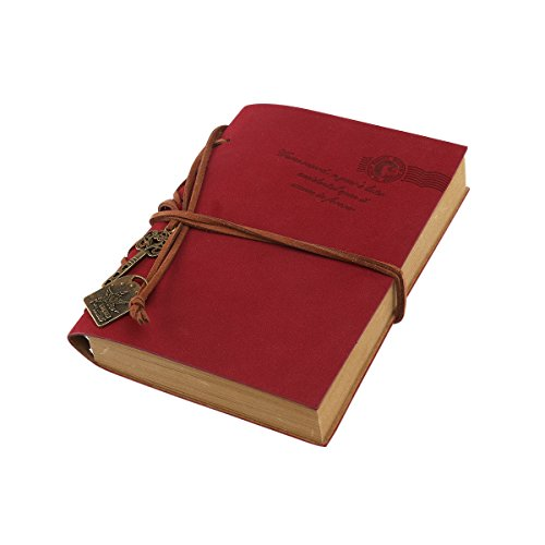 tinksky-pu-cover-blank-notebook-notepad-travel-journal-diary-sketchbook-red