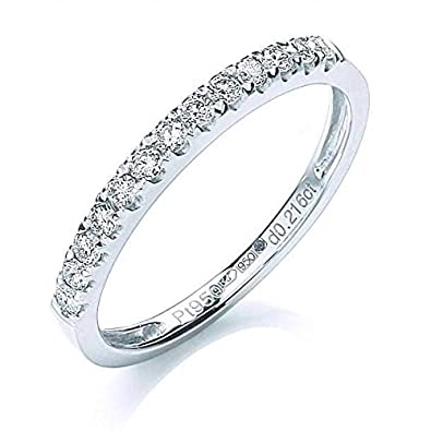 JQS - Platinum 0.20 Carat Brilliant Diamond H/Si Half Claw Set Eternity Ring
