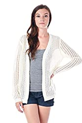 [The Classic Brand] Cream Over-Sized Anchor Cardigan Small