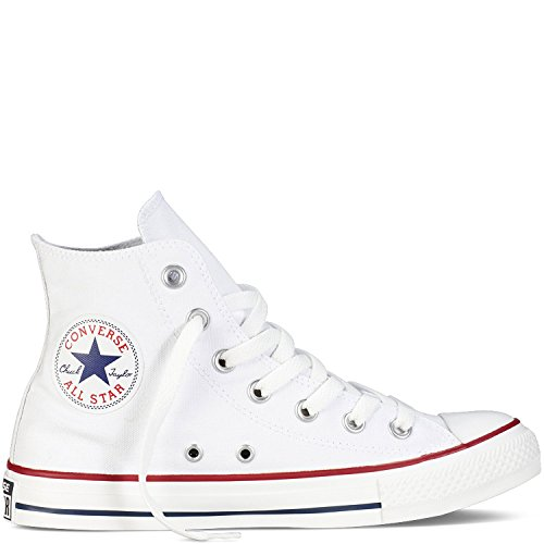 Converse Unisex Chuck Taylor Hi Basketball Shoe (5 Men 7 Women, Optical White)