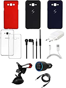 NIROSHA Cover Case Charger Headphone Mobile Holder car for Samsung Galaxy ON5 - Combo