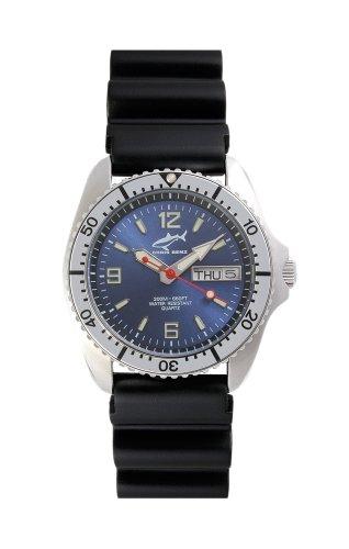 Chris Benz One Medium CBM-B-SI-KB Reloj unisex Reloj de Buceo