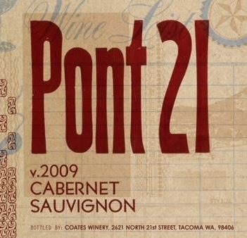 "2009 21 Cellars ""Pont 21"" Cabernet Sauvignon 750 Ml"
