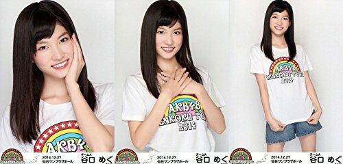 AKB48 公式生写真 全国ツアー2014 宮城Ver. 会場特典 【谷口めぐ】 3枚コンプ