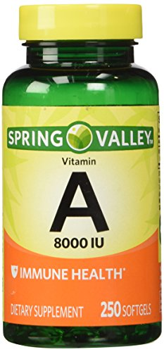Spring Valley - vitamine A 8000 UI, 250 Softgels