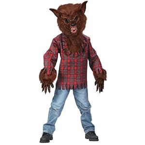 Child Brown Werewolf Costume Medium