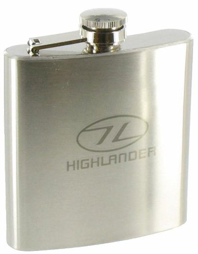 Highlander - Fiaschetta in acciaio 170 ml, colore: Argento