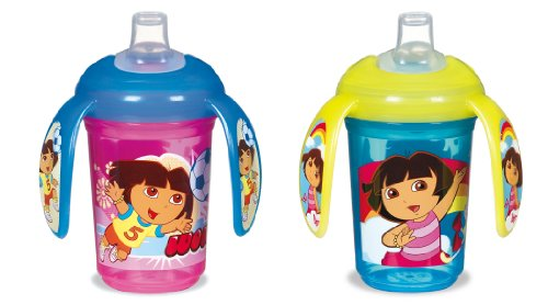 Munchkin Dora the Explorer Non-Insulated Trainer Cup, 7 Ounce, Colors May Vary