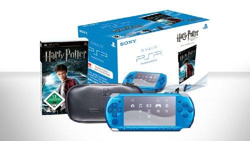 PlayStation Portable - PSP Konsole Slim & Lite 3004, blau inkl. Harry Potter und der Halbblut Prinz
