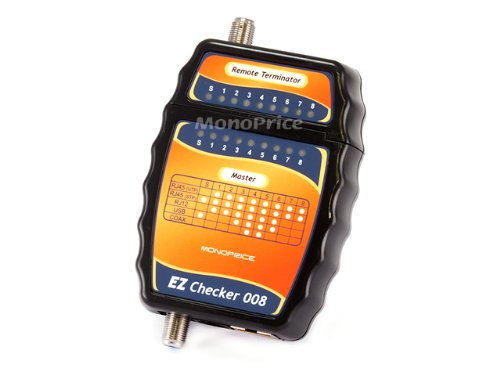 Monoprice Multi-Function F-Type, RJ12, and RJ45 Cable Tester