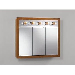 Medicine Cabinets - 48-Inch Rounded Profile Tri-View Medicine