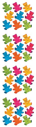 Jillson Roberts Prismatic Stickers, Micro Teddy Bears, 12-Sheet Count (S7186)