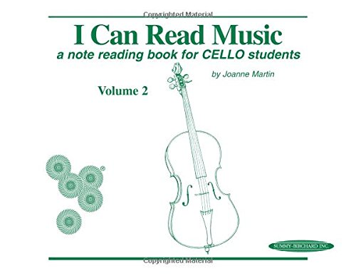 I Can Read Music, Vol 2: A Note Reading Book for Cello Students