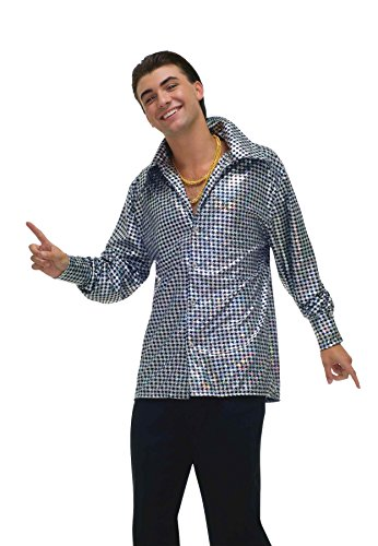 Forum Novelties Men's 70's Disco Fever Hustling Hunk Costume Shirt
