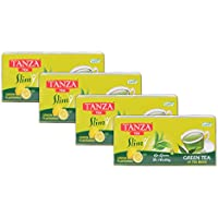 Tanza Tea Slim Green Tea Bags Lemon Flavoured (Pack Of 4)