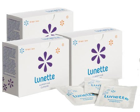 Fantastic Deal! Lunette Menstrual Cup Desinfecting Wipes/Cupwipes - 3 Pack (30 count)