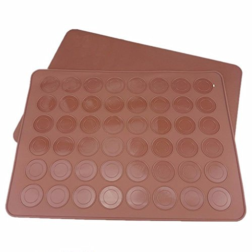 Silicone Macaron macaroon Baking Sheet Mat Muffin DIY Chocolate Cookie Mould Mode - 48 Capacity (round)