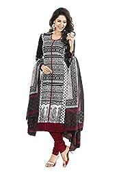 V-Kart Women's Cotton Unstitched Dress Material (Vkart_379_Multi_Free Size)
