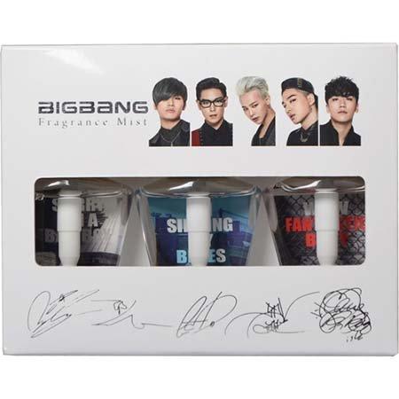 BIGBANG フレグランスミスト 50ml×3種 | ジャパンツアー限定グッズ | 特別仕様 ビッグバン サイン入りパッケージ