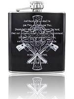 6oz Boondock Saints Prayer Vinyl Wrap Stainless Steel Flask (1)
