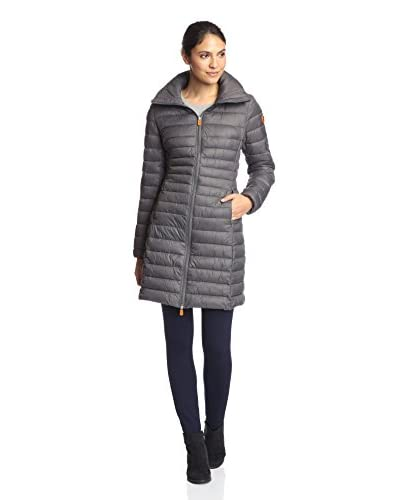 Save the Duck Women's Long Puffer Jacket with Hood