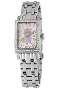 Gevril Women's 8248RLB Super Mini Quartz Pink Mother of Pearl Diamond Watch