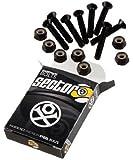 """Sector 9 Black Skateboard Hardware Set - 1 1/4"""""""