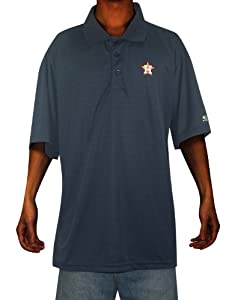 Mens MLB Houston Astros Baseball Athletic Short Sleeve Polo Shirt by MLB