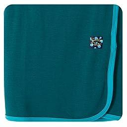 KicKee Pants Swaddling Blanket w/ Contrast Trim Cedar/Confetti