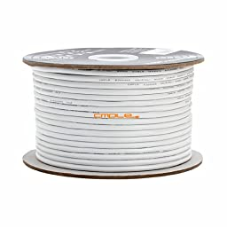 Cmple -12AWG CL2 Rated 2-Conductor Speaker Cable - 250ft For In-Wall Install.
