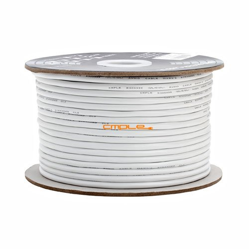 12Awg Cl2 Rated 2 Conductor Loud Speaker Cable 250Ft For In-Wall Installation