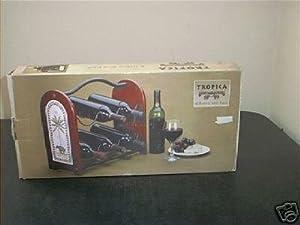 Tropica Wooden 6 Bottle Wine Rack