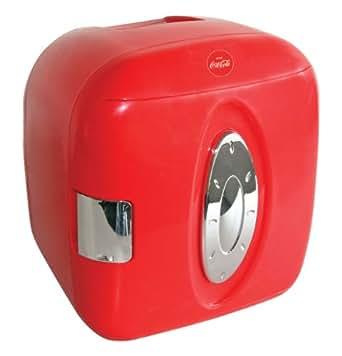 Koolatron KWCXJ6 Coca-Cola 9-Can-Capacity Mini Fridge, Red