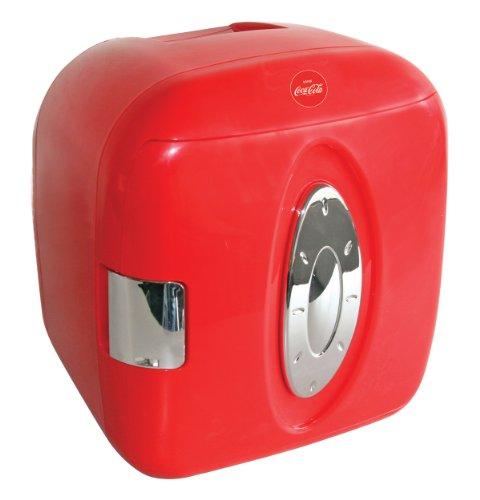 Coca Cola KWCXJ6 9-Can Capacity Mini Fridge, Red