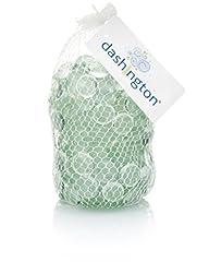 Dashington Flat Clear Marbles, Pebbles (2.5 Pound Bag) for Vase Filler, Table Scatter, Aquarium…