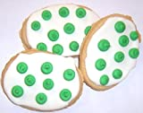 Scott's Cakes White Iced Easter Egg Sugar Cookie with Green Polka-Dots in a Decorative Mini Tin