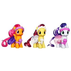 My Little Pony, Wedding Flower Fillies Set, Sweetie Belle, Apple Bloom, and Scootaloo, 3-Pack