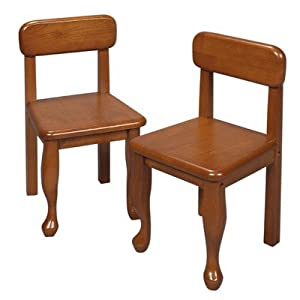 Queen Anne Chairs Set of Two in Honey