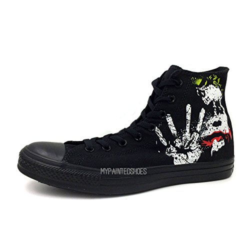 Joker Unisex Converse Chuck Taylor Pure Hand Painting Classic Black Sneaker 11 M US