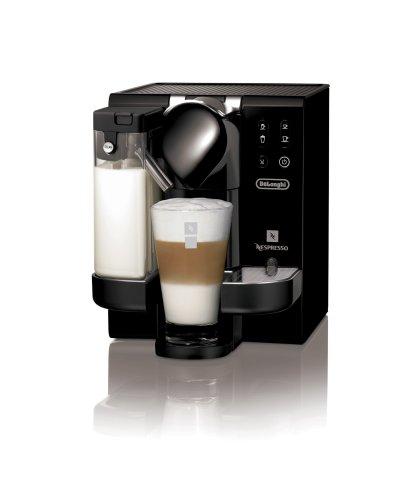 K Cup Coffee Maker With Milk Steamer : Milk Frothers: DeLonghi EN670.B Nespresso Lattissima Single-Serve Espresso Maker, Black