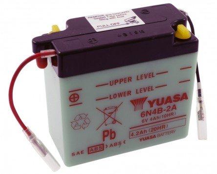 Batterie YUASA - 6N4B-2A für FANTIC MOTOR Strada-Sport 125 ccm Baujahr 85 [inkl. 7,50 EUR Batteriepfand]