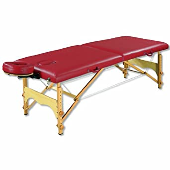 "3B Scientific W60601BG Red Basic PorTable Massage Table, 72.5"" Length x 27.5"" Width"
